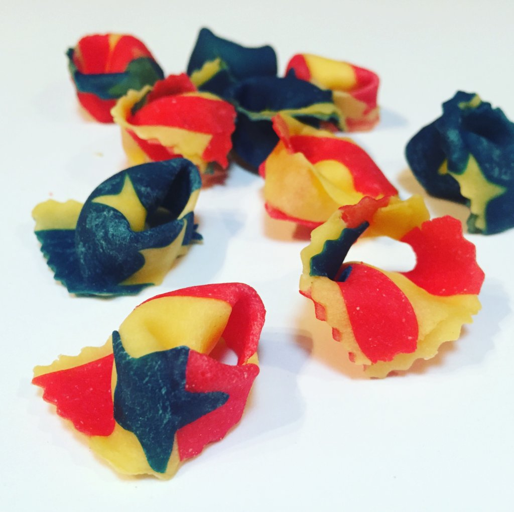 Pasta Nostra USA bespoke tortellini for 4th July pasta special