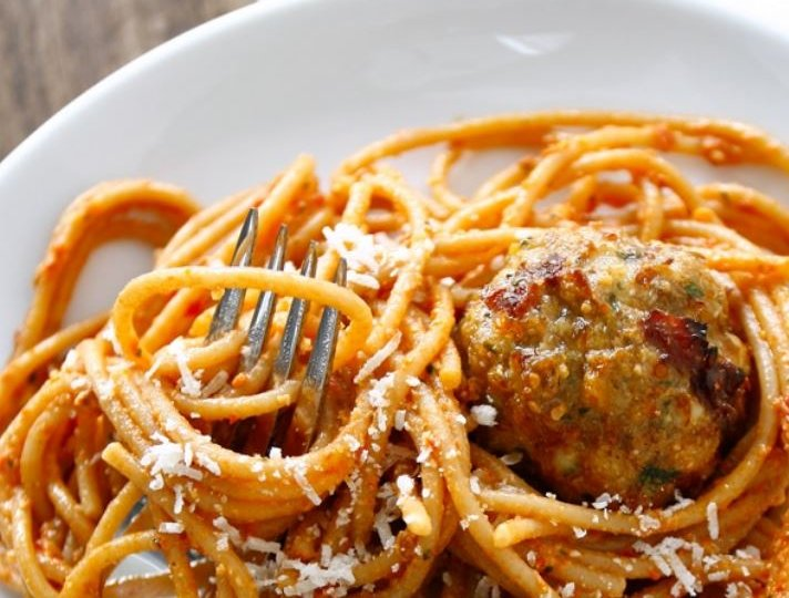 turkey sun dried tomato meatball